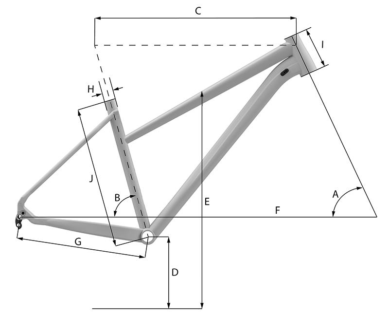 Whyte Caledonian Womens Hybrid Geometry Chart